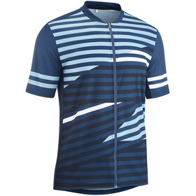 Gonso Agno Full-Zip SS Bike Shirt Men insignia blue